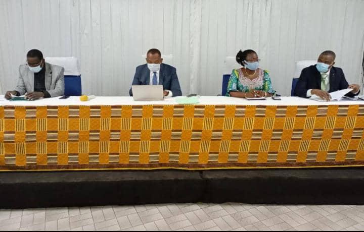 Cérémonie de lancement de du projet de conformité de la Société Togolaise des Eaux (TdE)  avec le cabinet GCENT sur la Loi de la Protection des Données à Caractère Personnel au TOGO (LPDCPT), le 17 juin 2021